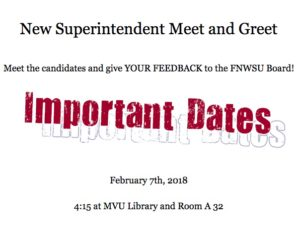 Feb 7th Superintendent Candidate Meet and Greet!